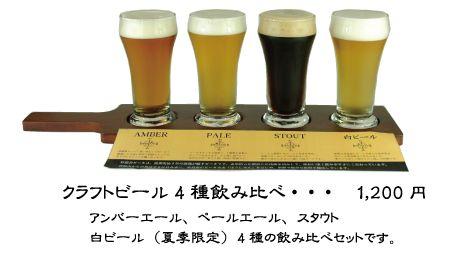 杉能舎 Craft Sake&Beer クラフトビール4酒飲み比べ 1200円