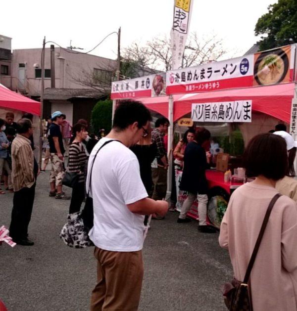 糸島ラーメンゆうゆう 出店ブース