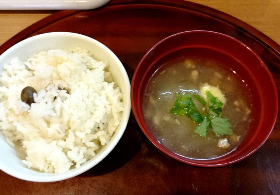 ご飯と冬瓜汁