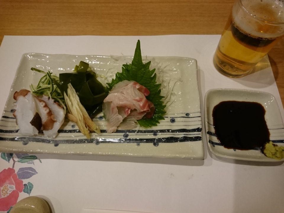 天ぷら東園 刺身
