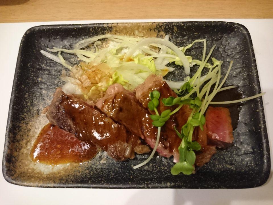 天ぷら東園 ステーキ