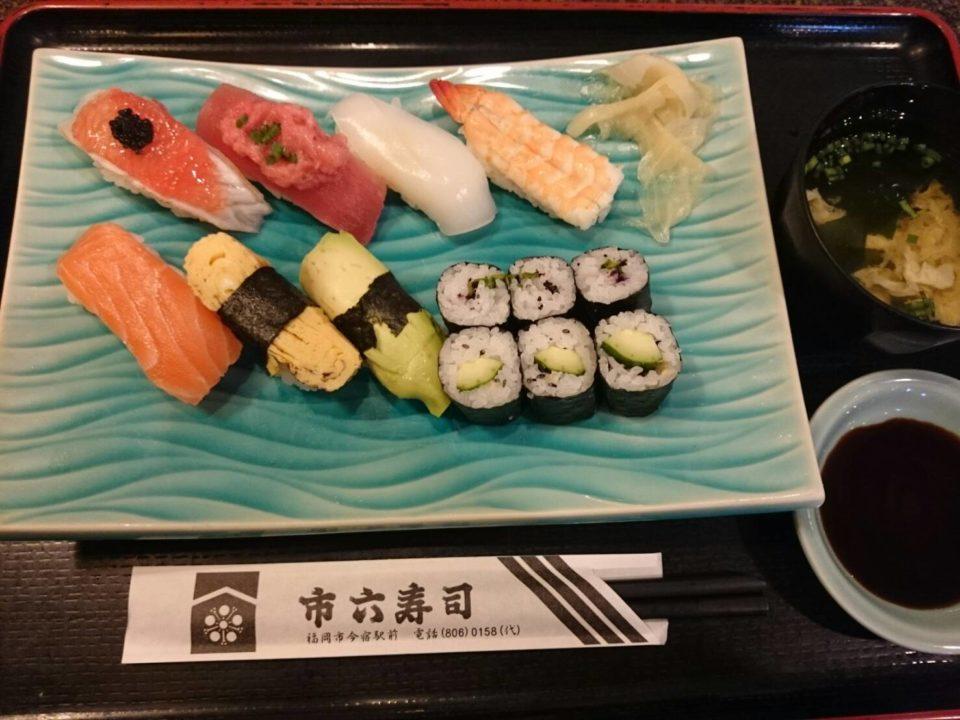 市六寿司 寿司定食