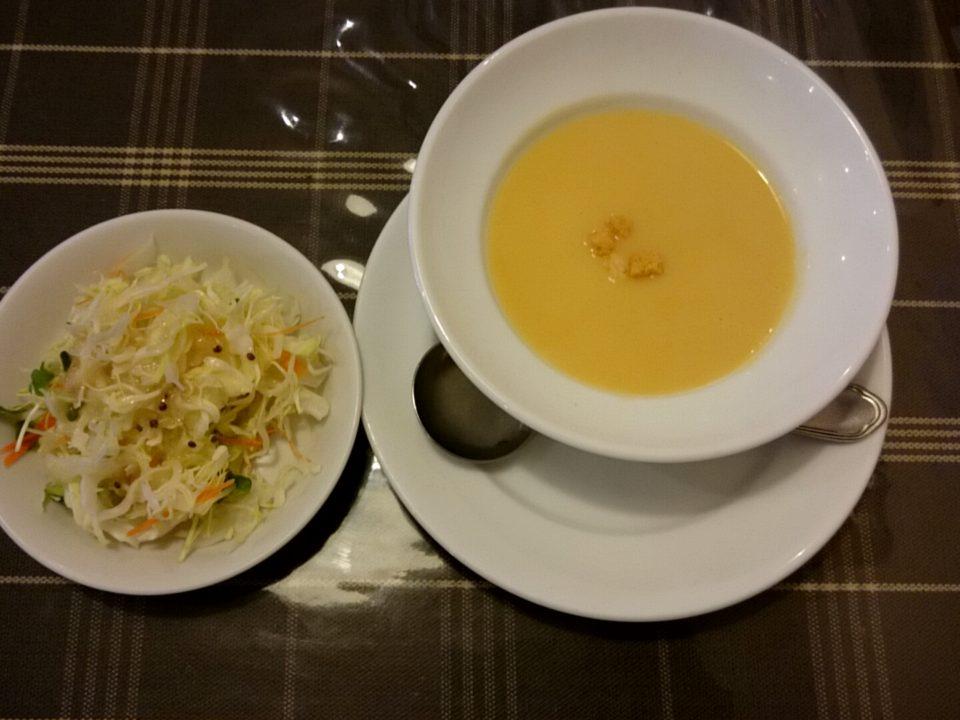 ムッシュさかい サラダ スープ