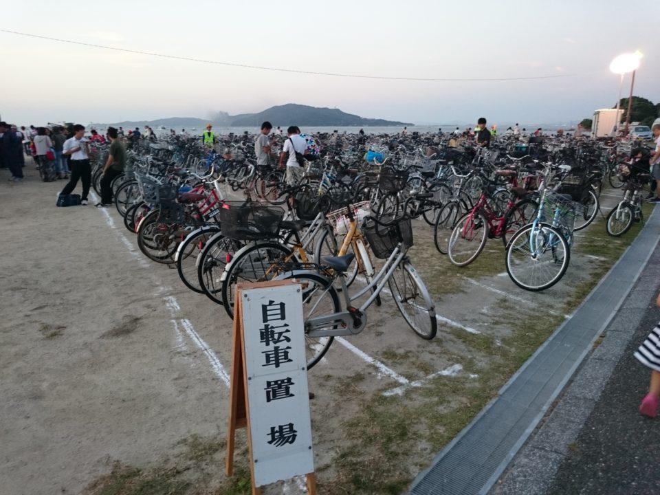 今宿花火大会 駐輪場
