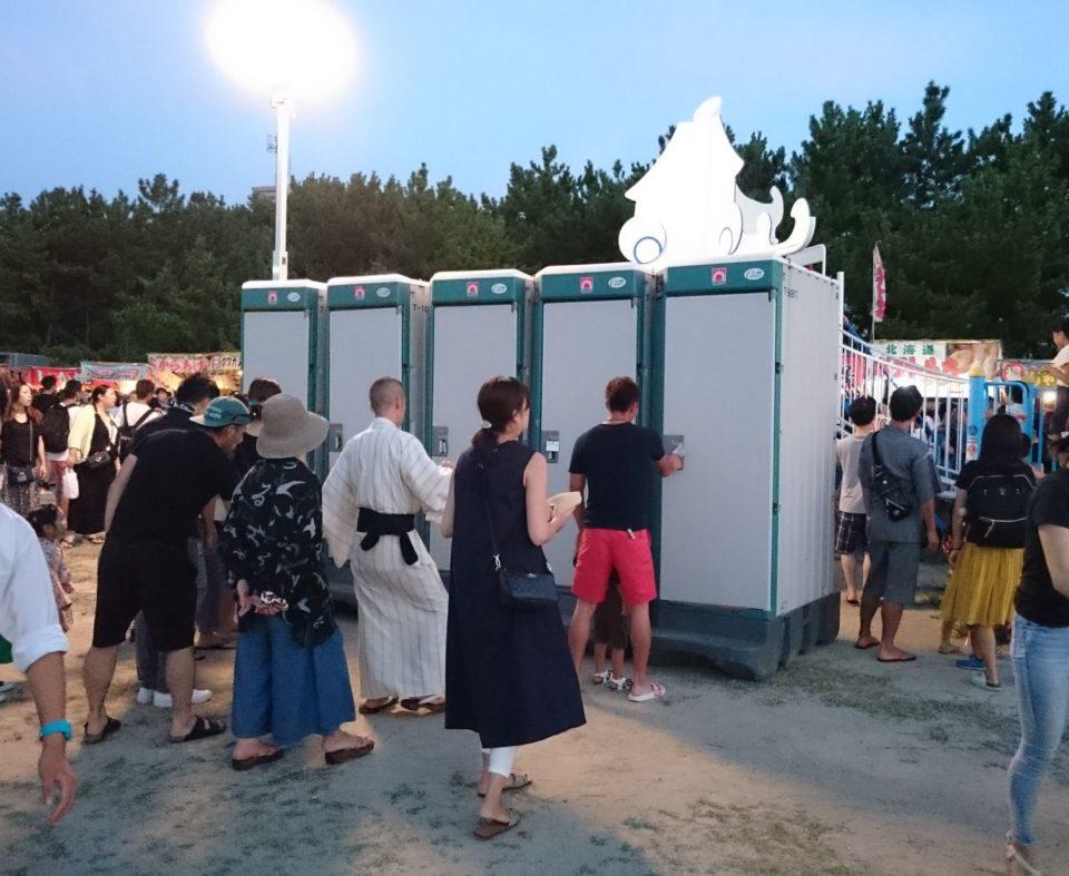 今宿花火大会 仮設トイレ