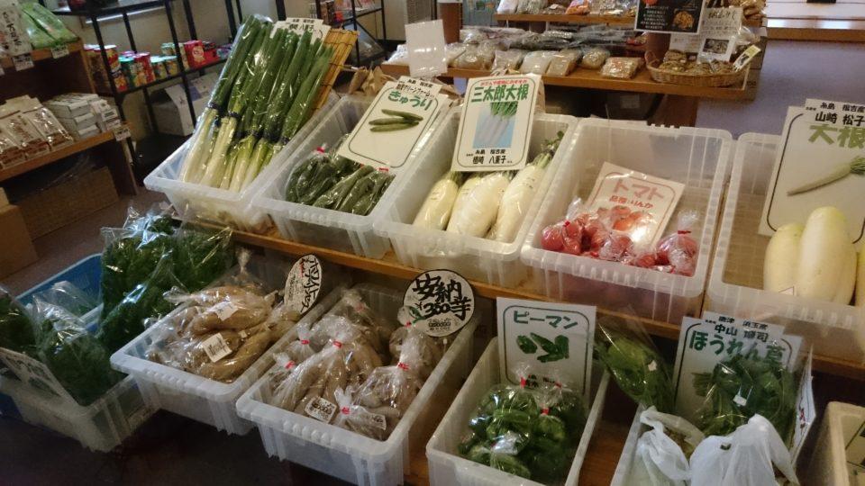 まむしの湯 地元の野菜