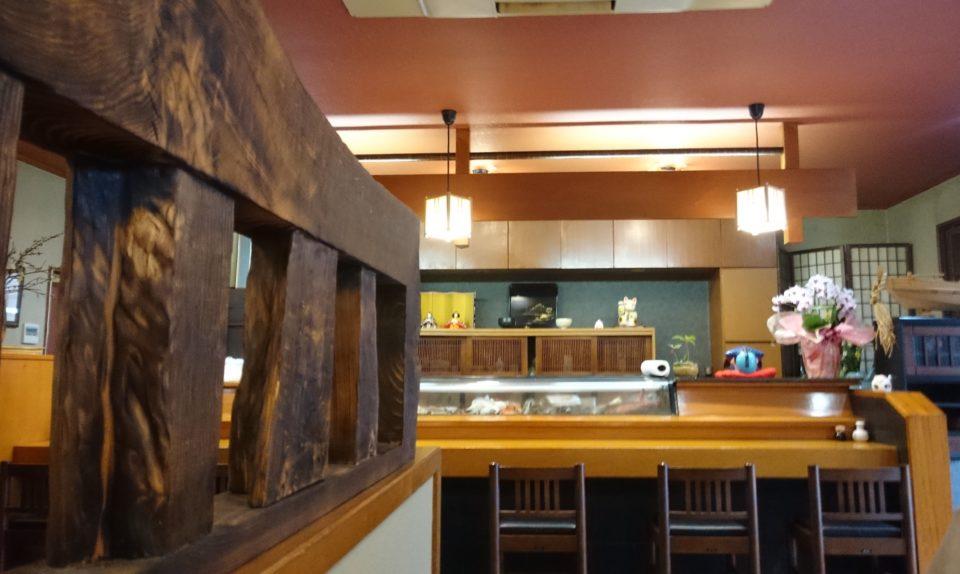 寿司割烹 奈加山 店内