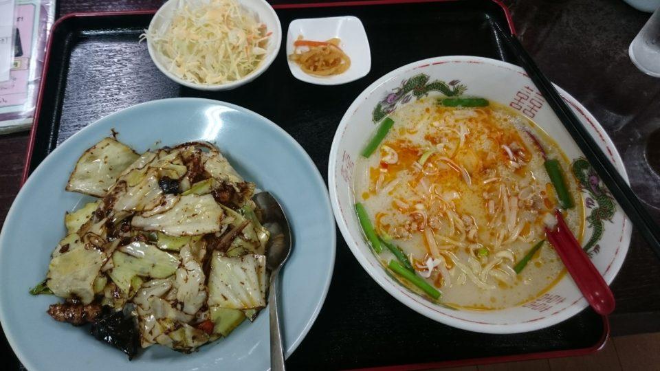 回鍋肉と台湾ラーメンセット
