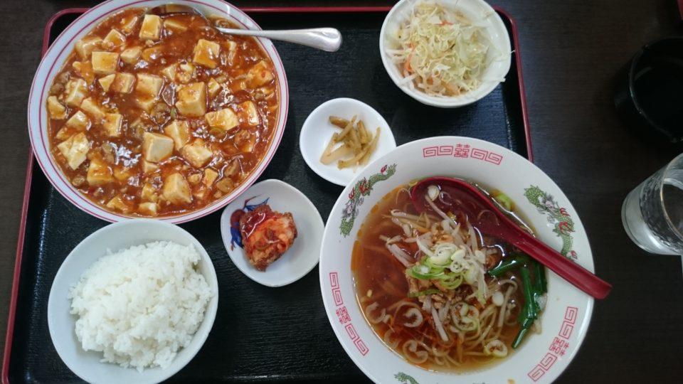 麻婆飯と台湾ラーメン 媽媽美食