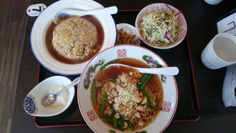 台湾ラーメンとあんかけ炒飯セット 中華香香