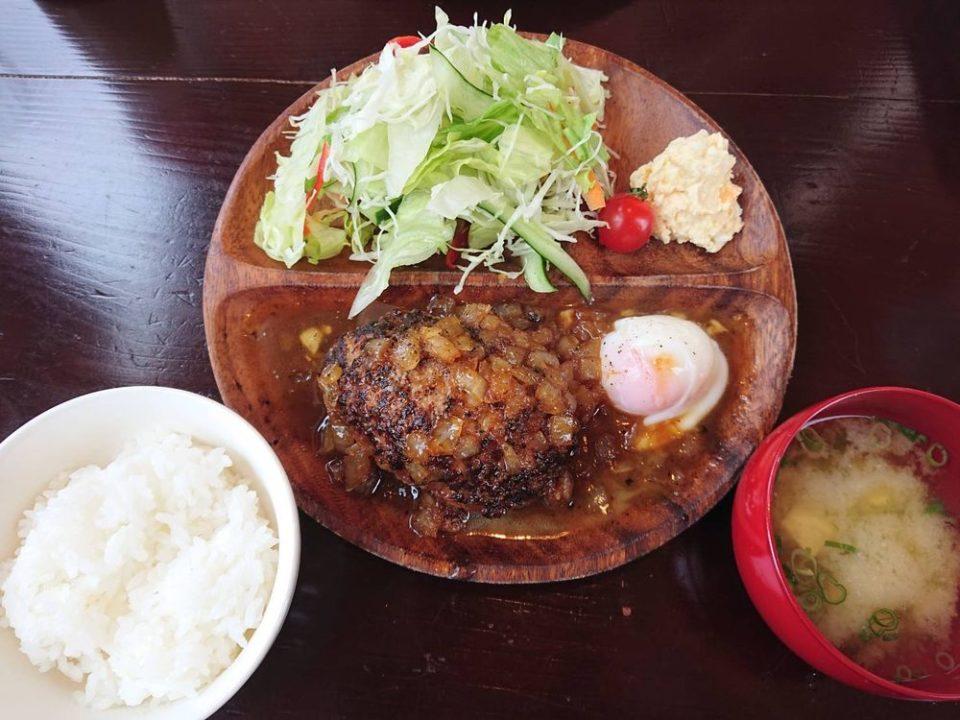 チャンプカフェ糸島 沖縄アグー豚と黒毛和牛ハンバーグ