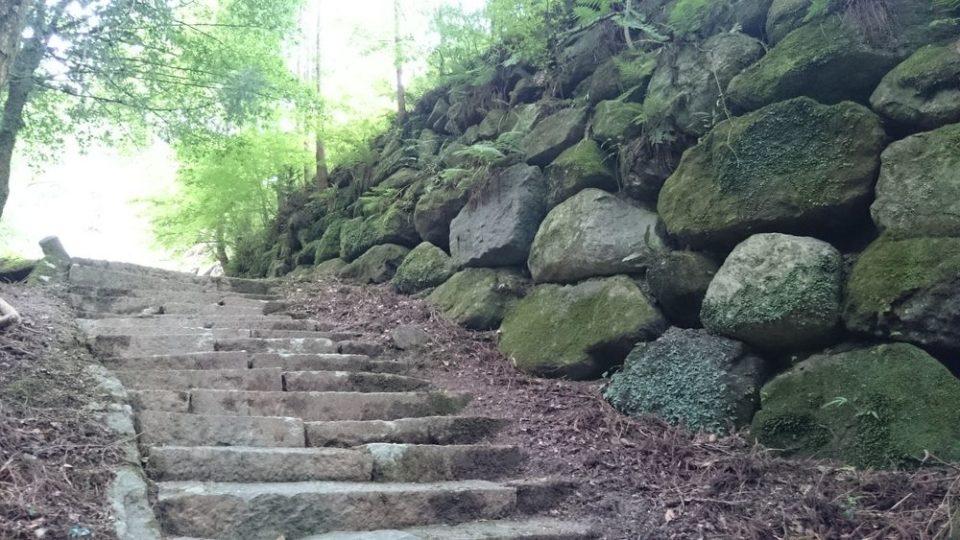 雷山自然歩道 岩
