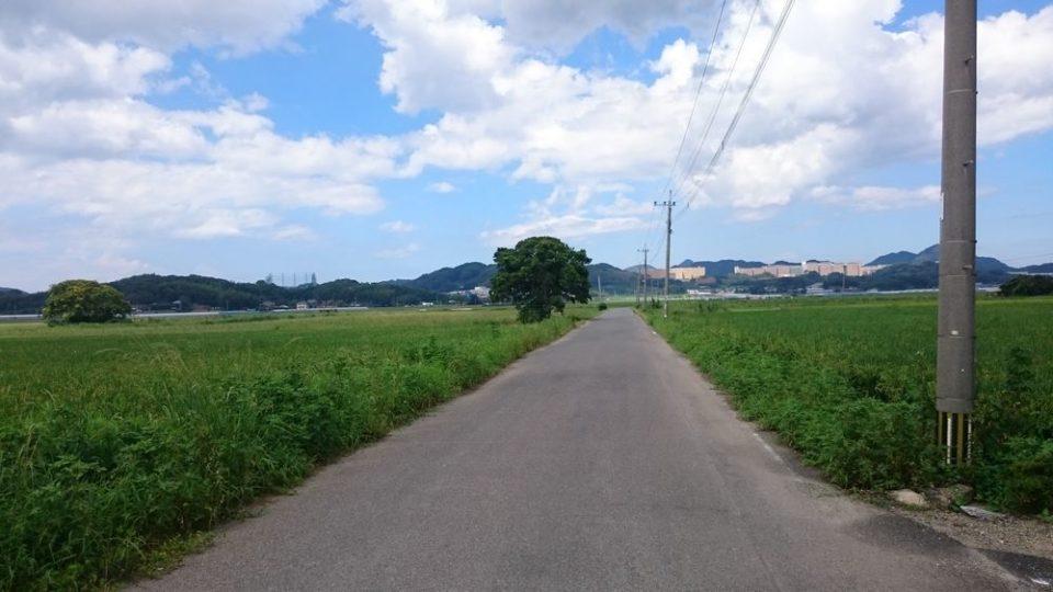 志登神社 前の道路