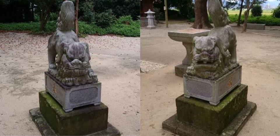 志登神社 狛犬