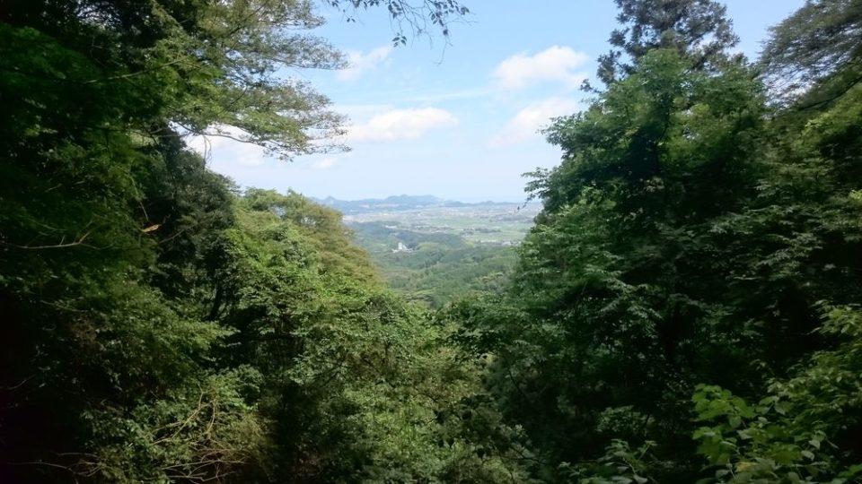 不動滝からの景色