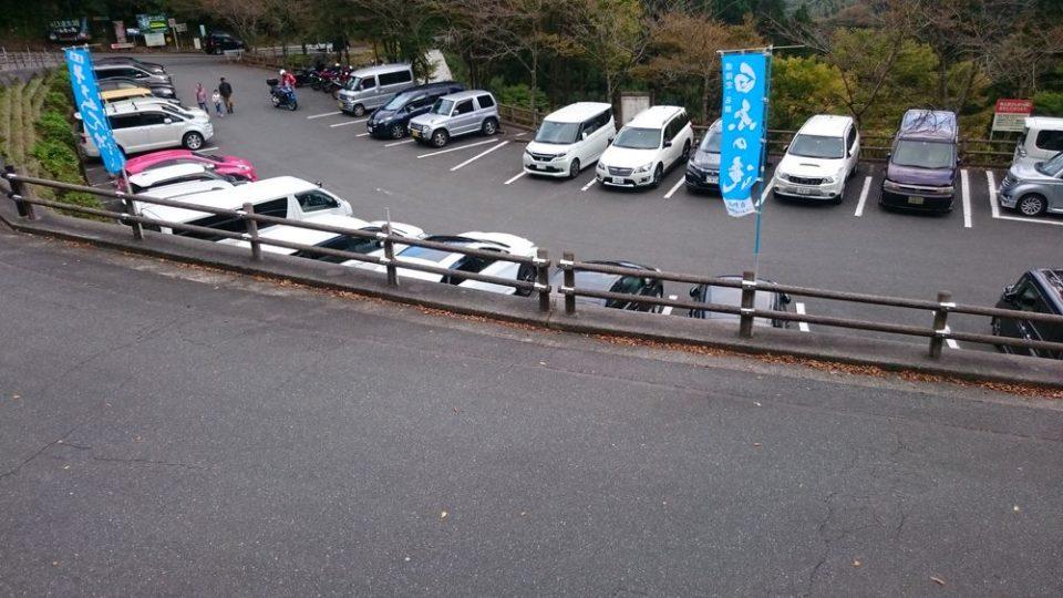 白糸の滝 駐車場 秋