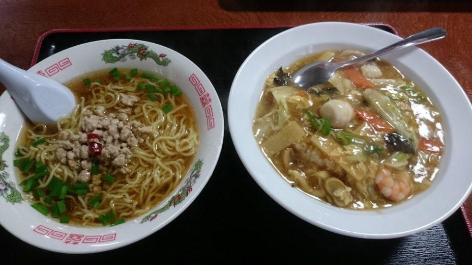 壱岐食堂 福岡 ラーメン 中華丼セット
