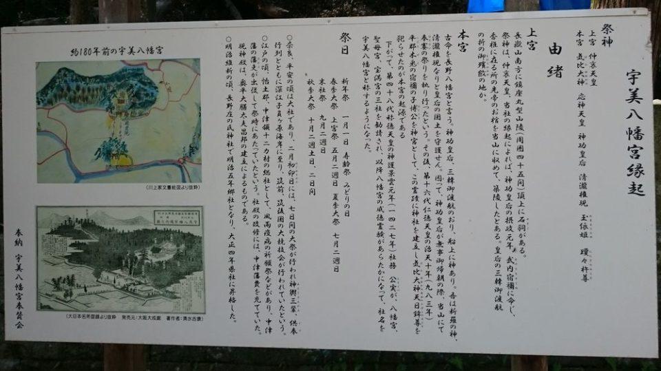 糸島 宇美八幡宮 縁起
