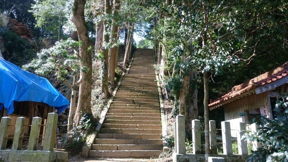 糸島 宇美八幡宮 階段