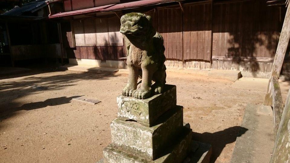 糸島 宇美八幡宮 狛犬