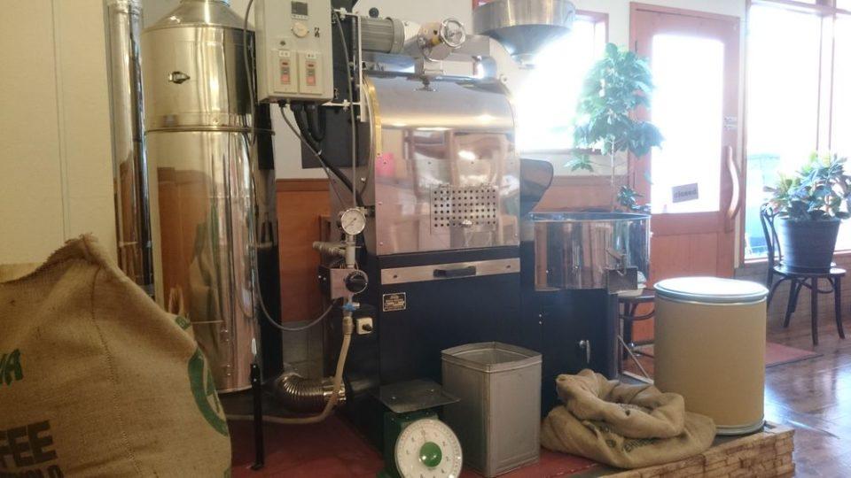 ジョルコアコーヒー 今宿 巨大焙煎機
