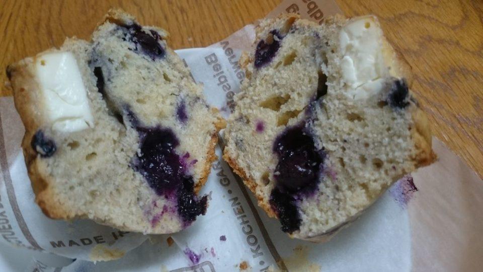 cake shop pocket ブルーベリークリームチーズマフィン