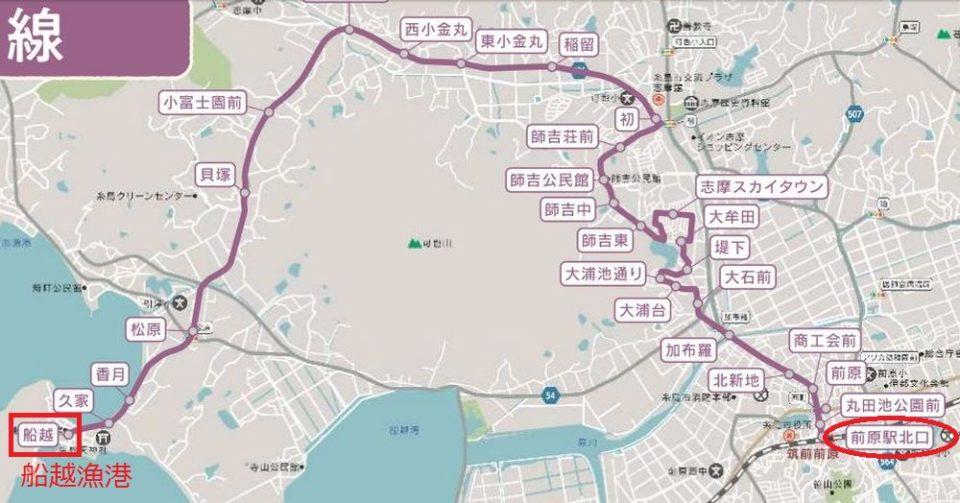 糸島牡蠣小屋 バス 船越線