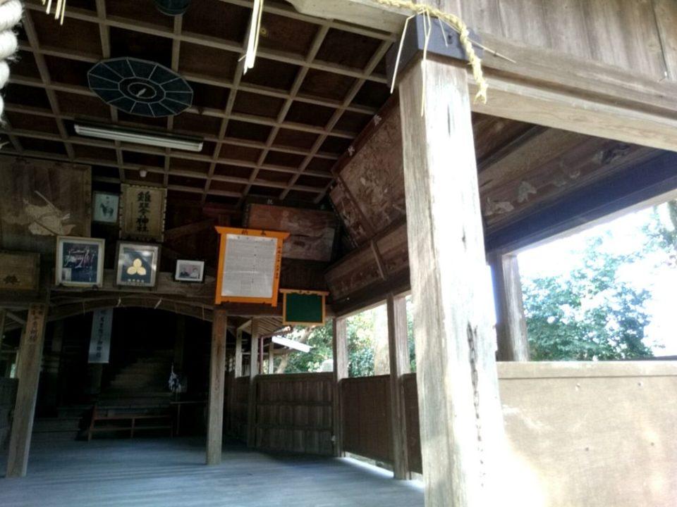 雉琴神社 拝殿内部