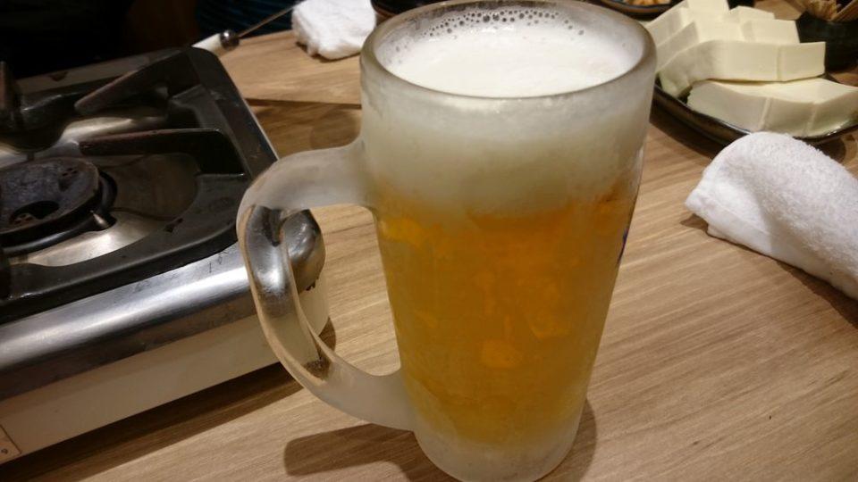 もつ鍋楽天地 西通り店 ビール