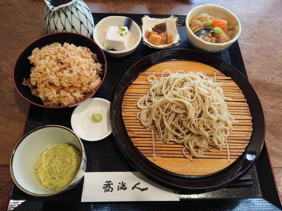蕎波人(そばんど)アボカド蕎麦セット