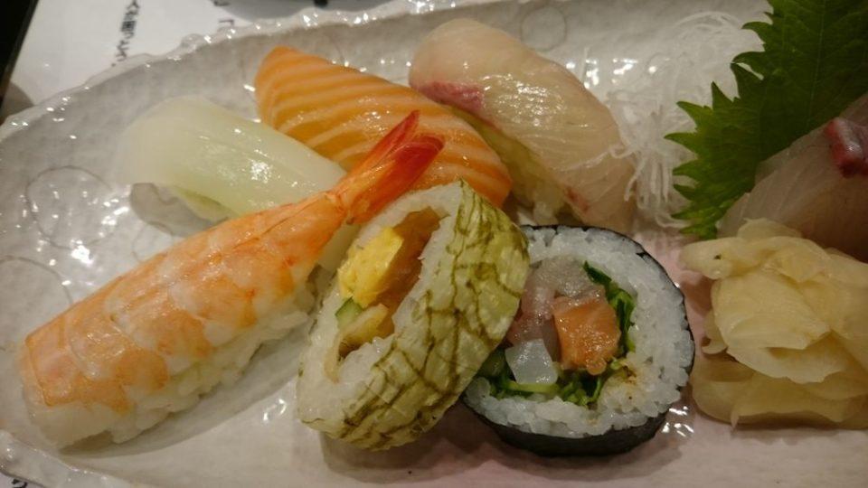 寿司割烹たつき すしランチの寿司