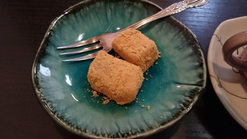 食処はる澤の家糸島店 デザートのわらびもち