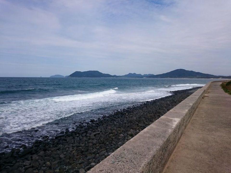 大祖神社 鳥居から見える海