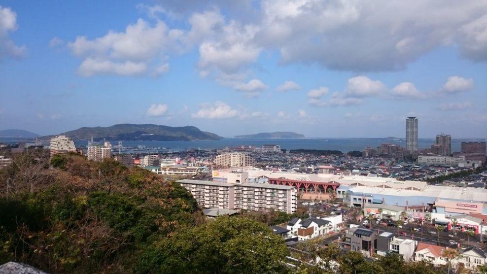 愛宕神社 福岡 景色 糸島方面