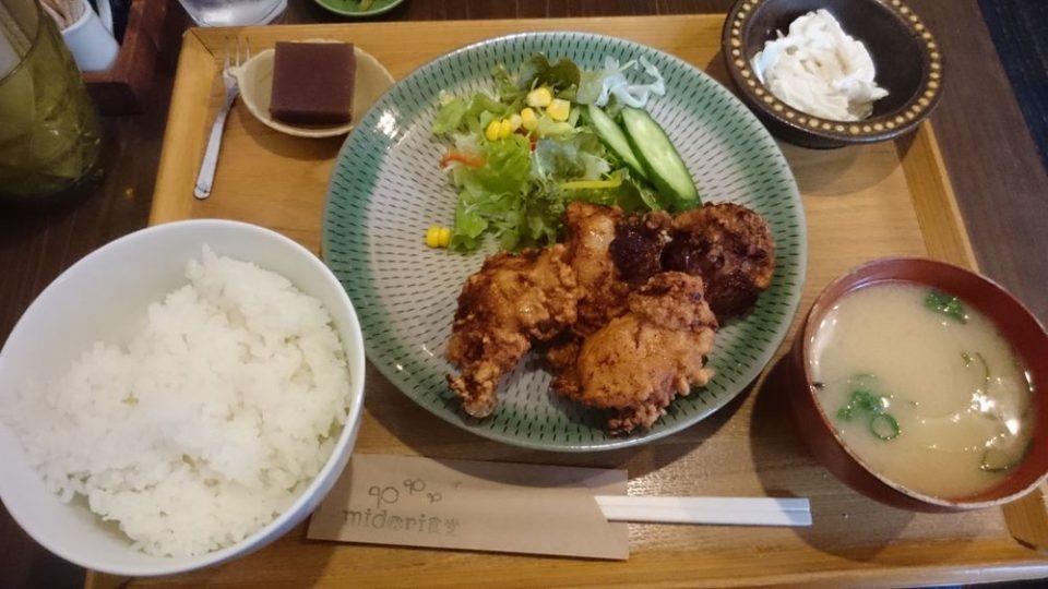 midori食堂 姪浜 からあげ定食