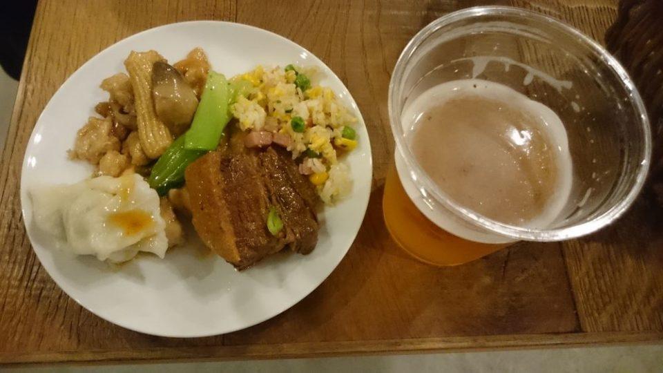 HafH Fukuoka THE LIFE 台湾イベント 台湾料理ゲットしてビールと共に