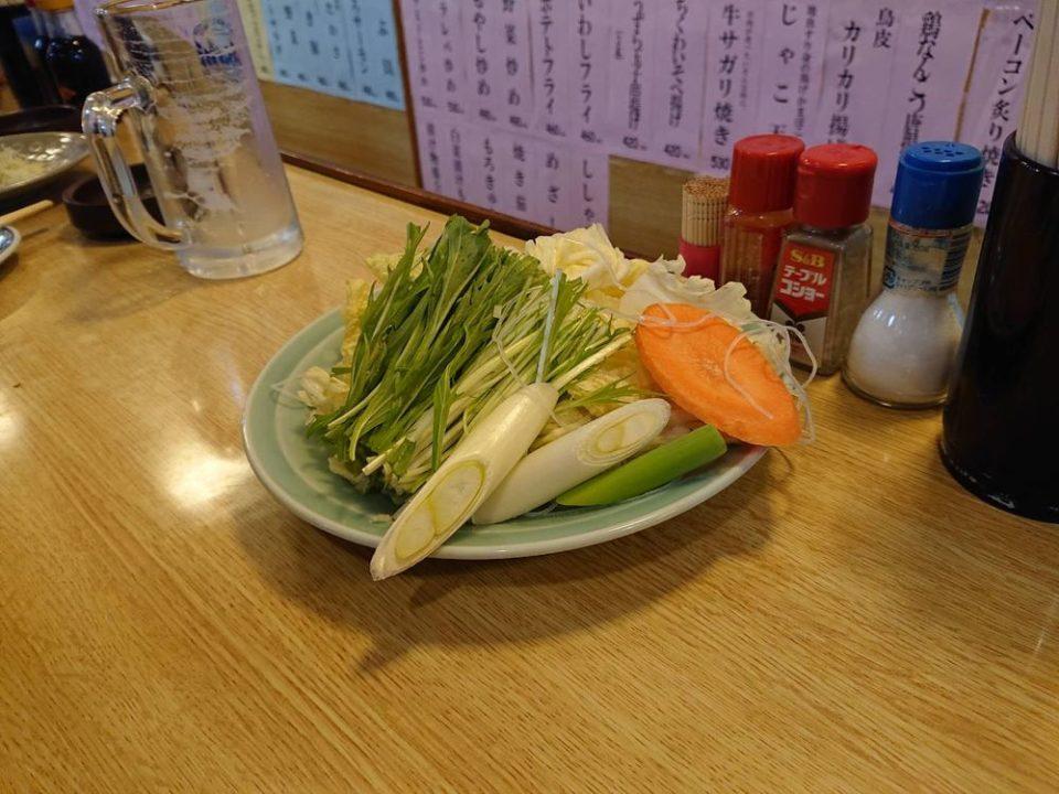 寿久 博多駅 鍋の野菜