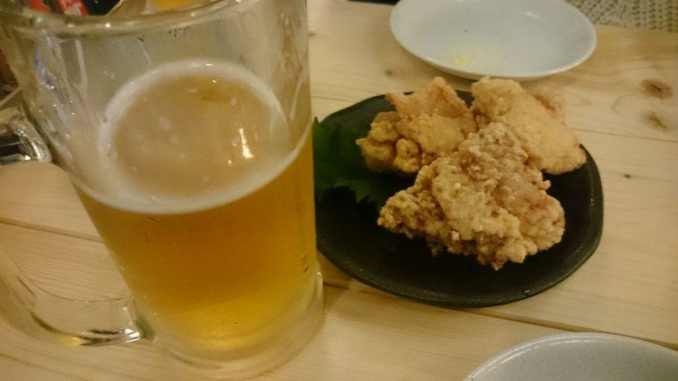 カワバタスタンド 福岡 ビールとからあげ