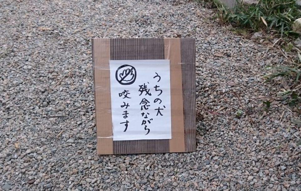小富士梅林 糸島 うちの犬残念ながら咬みます