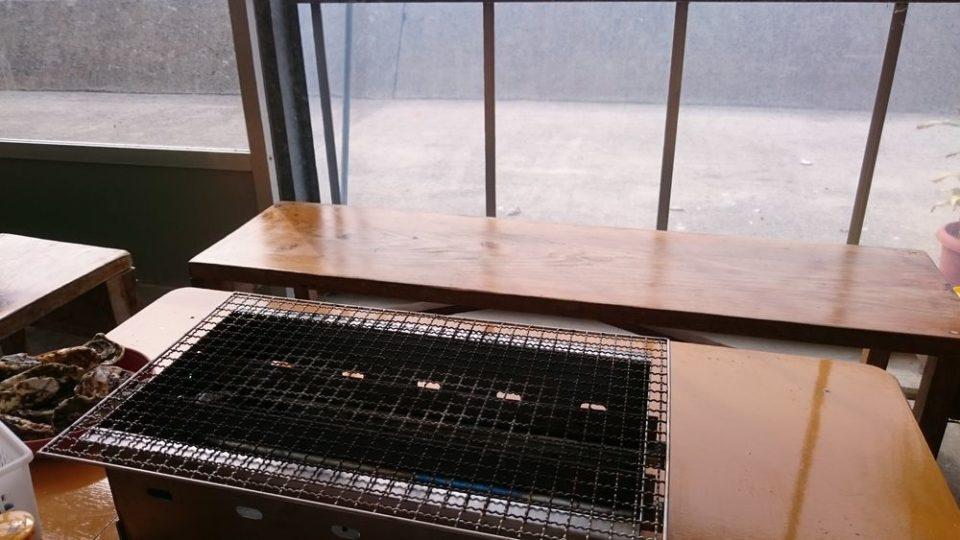みわちゃんカキ テーブル ガス火