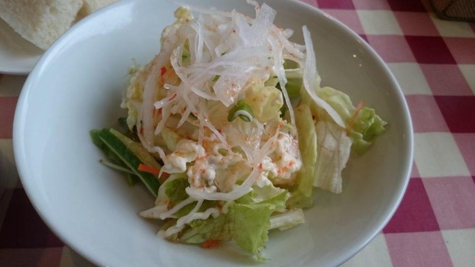 パスタ屋【早良区田村】サラダ