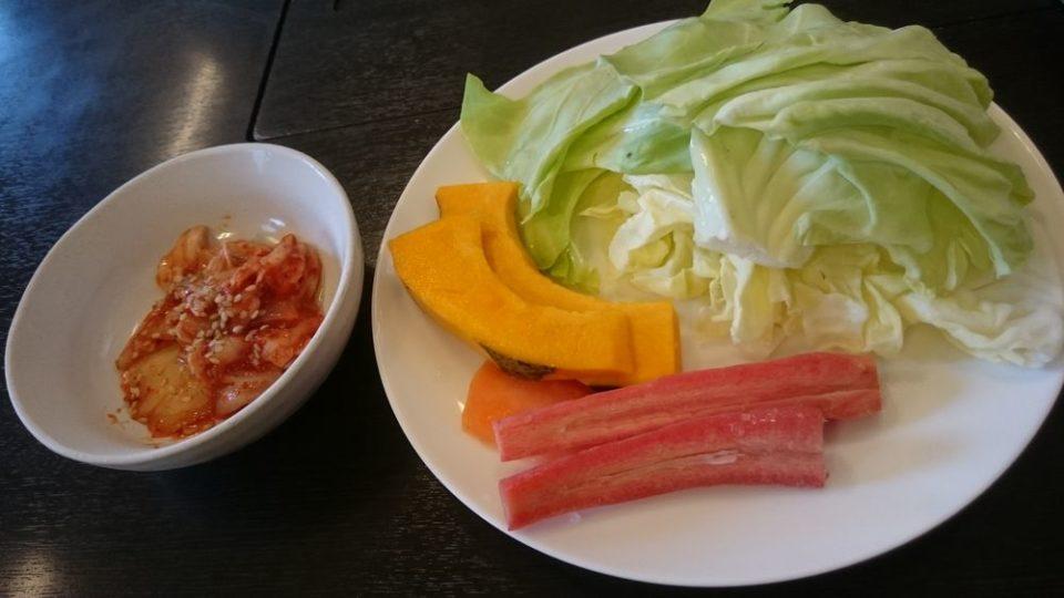 焼肉向日葵 野菜とキムチ